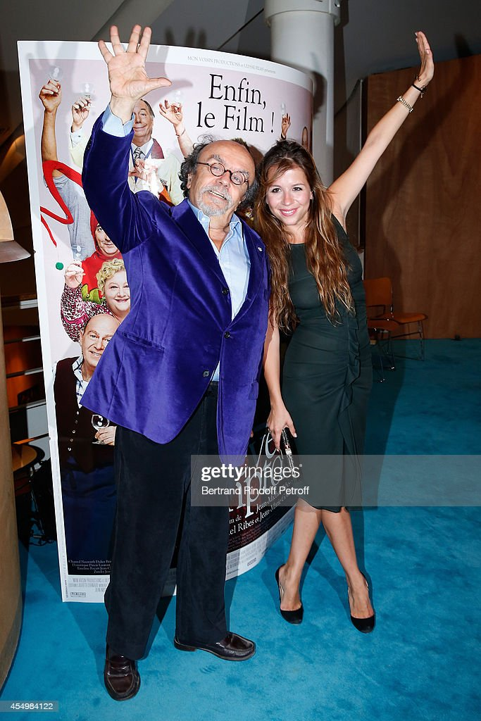 Director of the movie Jean-Michel Ribes and his daughter Alexie attend the 'Breves de Comptoir' : movie premiere at Theatre du Rond Point on September 8, 2014 in Paris, France.