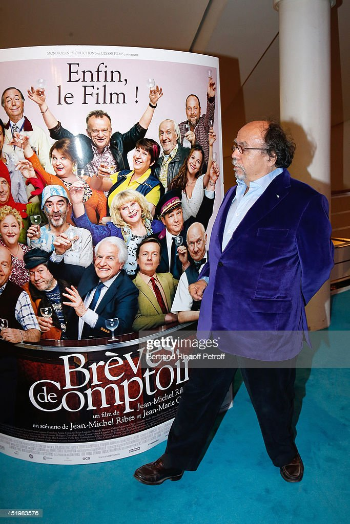 Director of the movie Jean-Michel Ribes attends the 'Breves de Comptoir' : movie premiere at Theatre du Rond Point on September 8, 2014 in Paris, France.