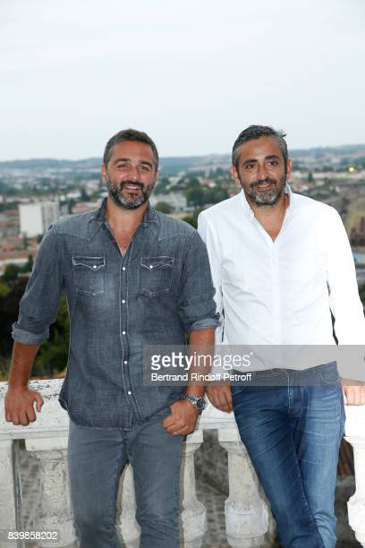 Director of the movie 'Le sens de la fete' Olivier Nakache and Eric Toledano attend the 10th Angouleme FrenchSpeaking Film Festival Day Five on...