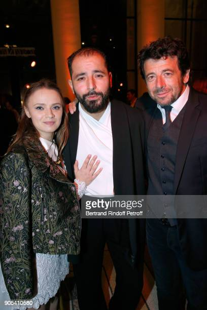Director of the movie 'M' Sara Forestier Revelation for 'M' Redouanne Harjane and his sponsor Patrick Bruel attend the 'Cesar Revelations 2018' Party...