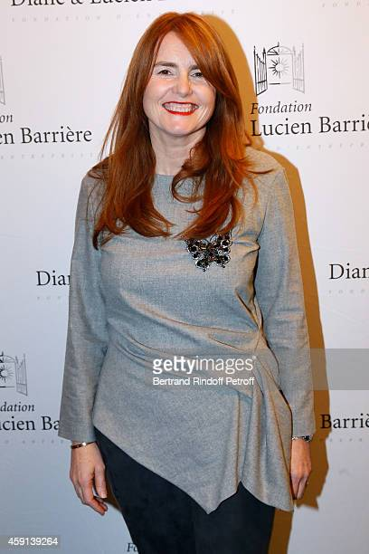Director of the movie MarieCastille MentionSchaar attends 'Les Heritiers' receives Cinema Award 2014 of Foundation Diane Lucien Barriere during the...