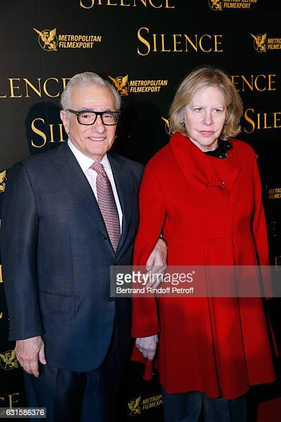 Director of the movie Martin Scorsese and his wife Helen Morris attend the Silence Paris Premiere at Musee National Des Arts Asiatiques Guimet on...