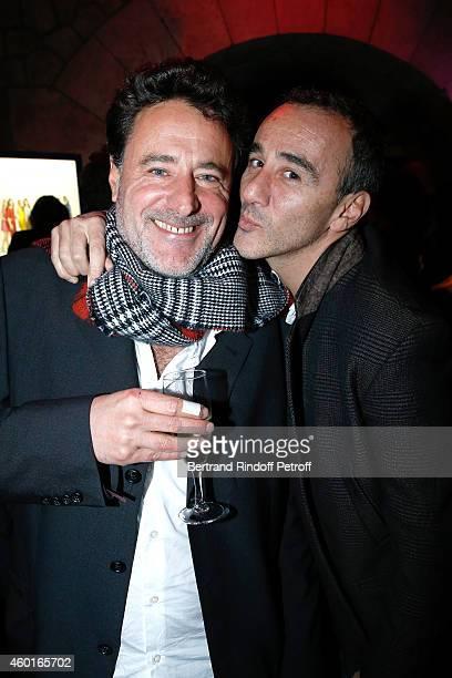 Director of the movie Philippe de Chauveron and humorist Elie Semoun attend the 'Qu'est ce qu'on a fait au Bon Dieu' Success Party at Le Showcase...