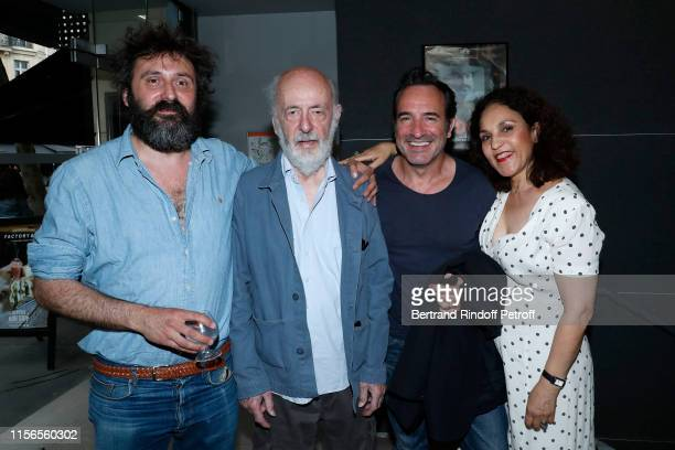 Director of the movie Quentin Dupieux Director Bertrand Blier Actor of the movie Jean Dujardin and Actress Farida Rahouadj attend Le Daim Movie...