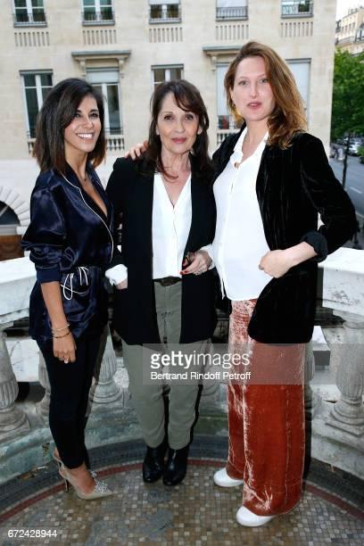 Director of the movie Reem Kherici actresses of the movie Chantal Lauby and Julia Piaton attend the Jour J Paris movie Premiere on April 24 2017 in...