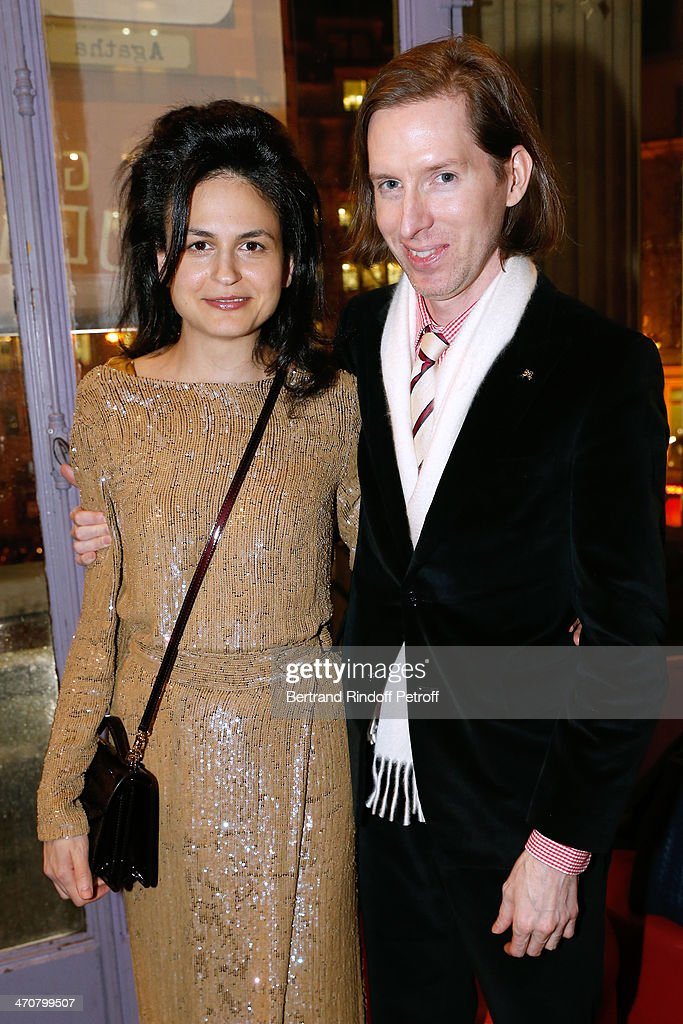 Director of the movie Wes Anderson (R) with his wife Juman Malouf attend 'The Grand Budapest Hotel' Paris Premiere at Cinema Gaumont Opera Capucines on February 20, 2014 in Paris, France.