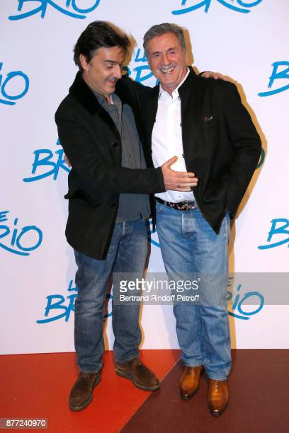 Director of the movie Yvan Attal and actor of the movie Daniel Auteuil attend the 'Le Brio' movie Premiere at Cinema Gaumont Opera Capucines on...