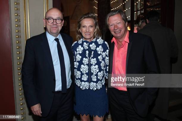 Director of the 'Musee d'Art Moderne de la Ville de Paris' Fabrice Hergott Emmanuelle de Noirmont and her husband Jerome de Noirmont attend the Kamel...