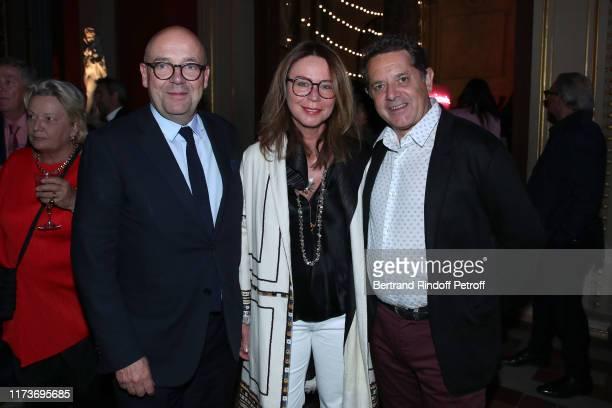 Director of the 'Musee d'Art Moderne de la Ville de Paris' Fabrice Hergott with Director of the National School of Fine Arts of Paris Jean de Loisy...