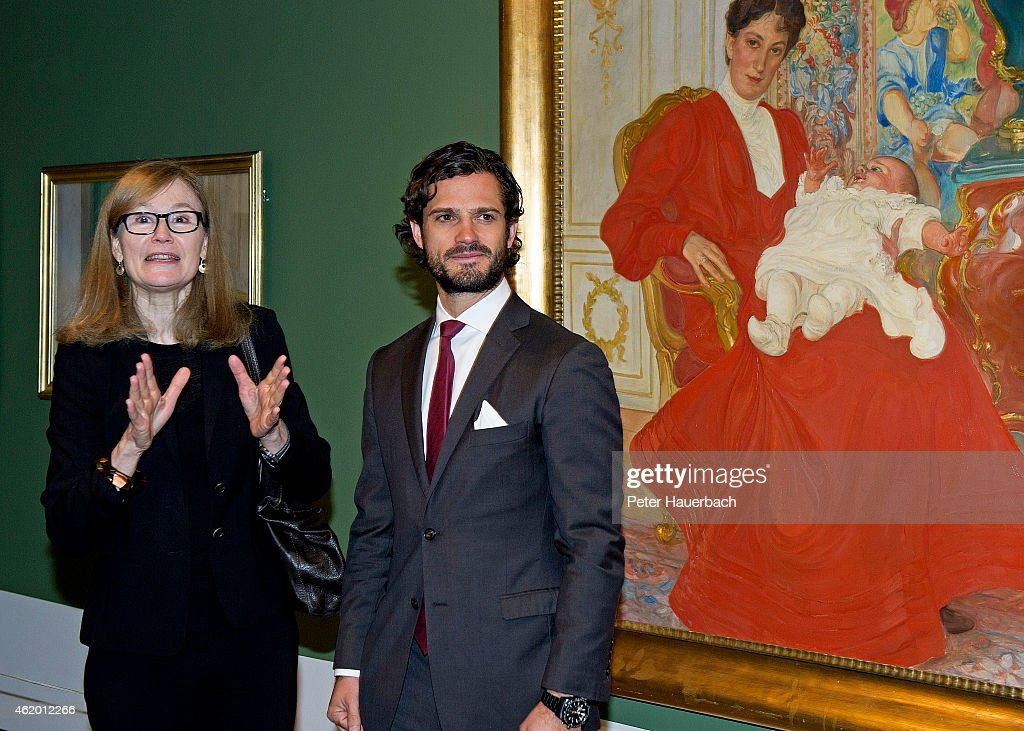 Prince Carl Philip Visits 'Carl Larsson - The Good Life' Exhibition In Copenhagen : News Photo