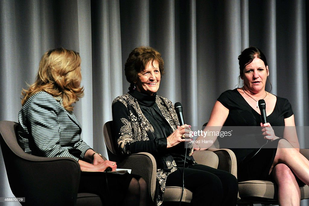 Director of the Museum of Tolerance Liebe Geft, Philomena Lee and Jane Libberton attend a special screening of 'Philomena' and conversation with Philomena Lee at the Museum Of Tolerance on February 11, 2014 in Los Angeles, California.