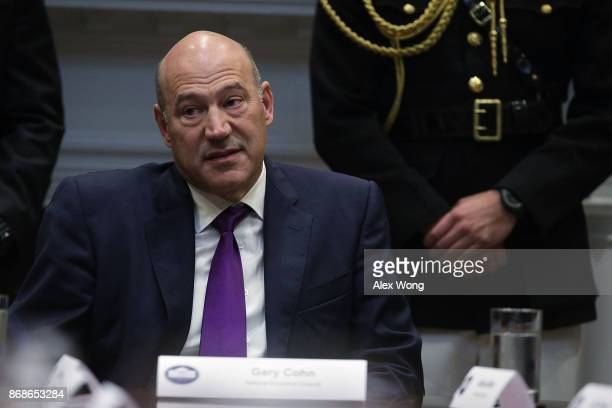Director of the National Economic Council Gary Cohn listens during a Roosevelt Room event October 31 2017 at the White House in Washington DC...