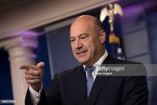 Director of the National Economic Council Gary Cohn speaks during the daily news briefing at the James Brady Press Briefing Room of the White House...