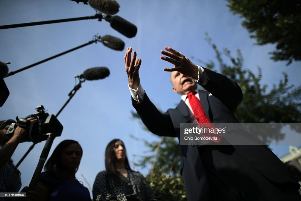 White House Economic Adviser Larry Kudlow Speaks To The Press At The White House