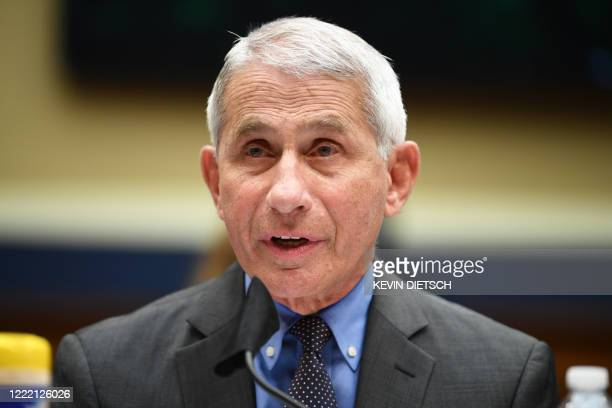 Director of the National Institute for Allergy and Infectious Diseases Dr. Anthony Fauci testifies before the US Senate Health, Education, Labor, and...