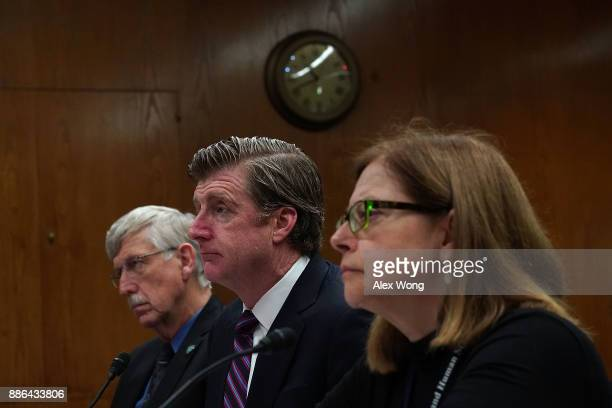 Director of the National Institutes of Health Francis Collins former US Rep Patrick Kennedy and Assistant Health and Human Services Secretary for...