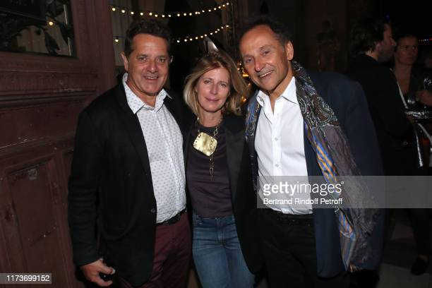 Director of the National School of Fine Arts of Paris Jean de Loisy Caroline Thompson and her companion JeanPierre Weill attend the Kamel Mennour...