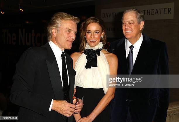 Director of the New York City Ballet Peter Martins Julia Koch and David Koch attend the opening night celebration of the New York City Ballet at...