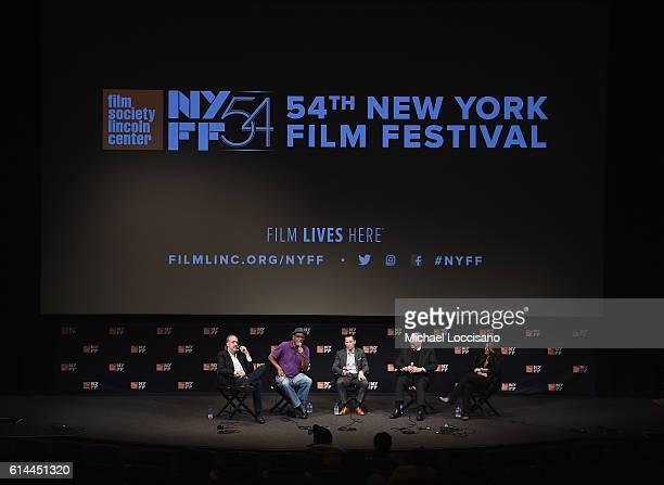 Director of the New York Film Festival Kent Jones filmmaker Sam Pollard Writer/producer Benjamin Hedin film subject Dave Dennis and producer Dava...