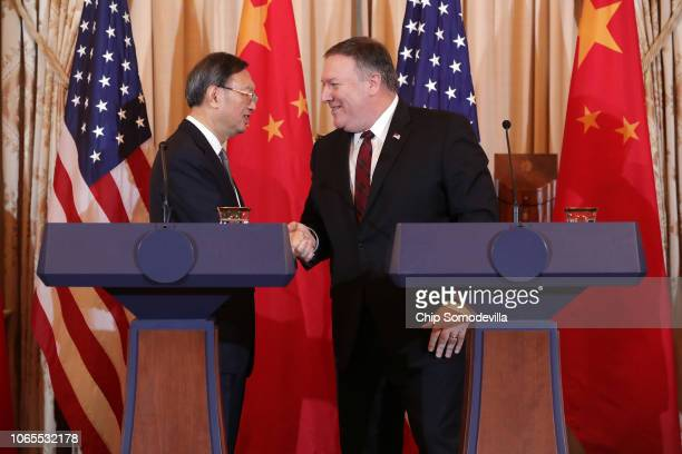 Director of the Office of Foreign Affairs of the Central Commission of the Communist Party of China Yang Jiechi and U.S. Secretary of State Mike...