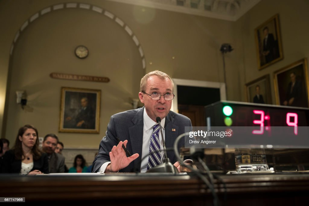 Office Of Management And Budget Director Mick Mulvaney Testifies To House Budget Committee On Trump's FY2018 Budget