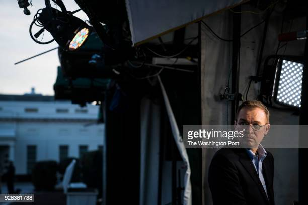 Director of the Office of Management and Budget Mick Mulvaney stands for a television interview at the White House in Washington DC on Saturday Jan...