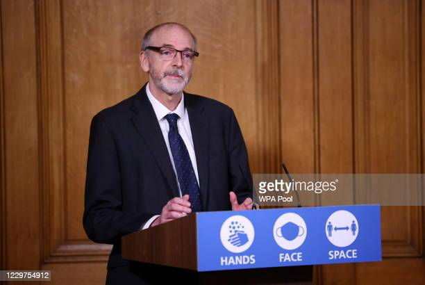 Director of the Oxford Vaccine Group Andrew Pollard attends a virtual news conference on the ongoing situation with the coronavirus disease at...