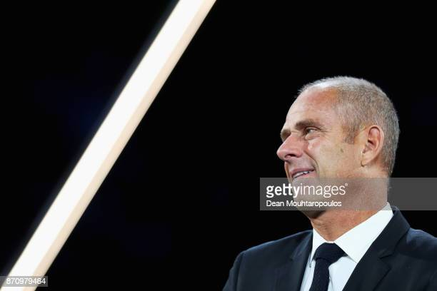 Director of the Paris Masters Guy Forget is pictured at the Jack Sock of the USA and Filip Krajinovic of Serbia Mens Final on day 7 of the Rolex...