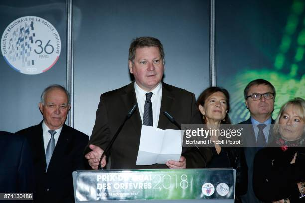 Director of the 'Police Judiciaire' Christian Sainte attends Sylvain Forge wins the '71eme Prix du Quai des Orfevres 2018' for his Book 'Tension...