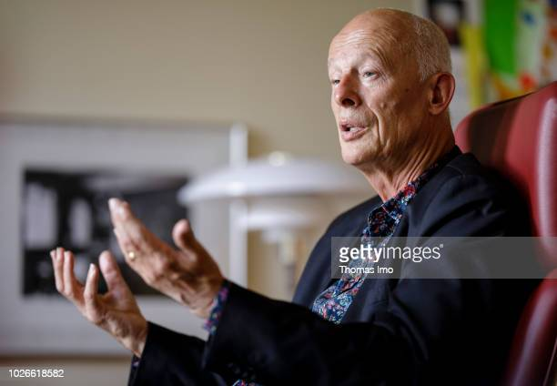 Director of the Potsdam Institute for Climate Impact Research Hans Joachim 'John' Schellnhuber gives an interview on August 28 2018 in Berlin Germany