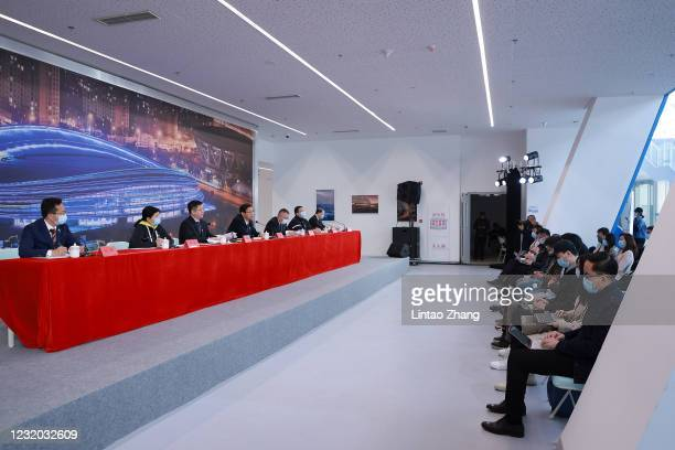 Director of the Press and Propaganda Department of the Beijing Olympic Winter Games Organizing Committee Zhao Weidong and Director of the Venue...
