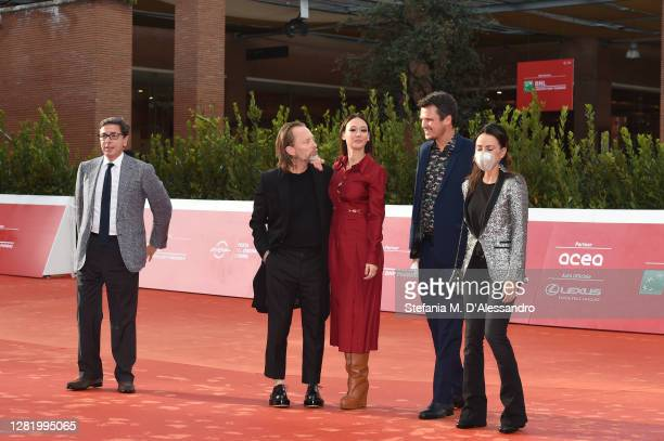Director of the Rome Film Festival Antonio Monda, Thom Yorke, Dajana Roncione, Francesco Zippel and a guest walk the red carpet during the 15th Rome...