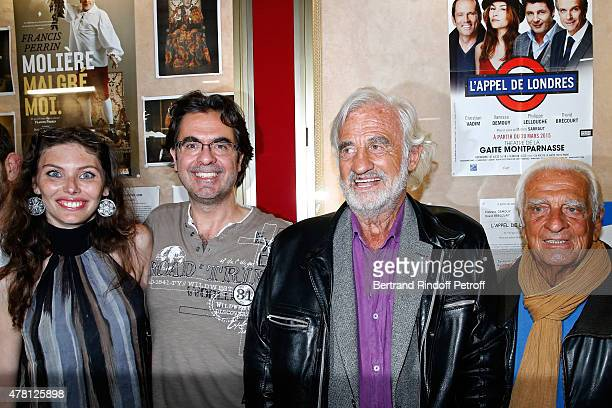Director of the school 'L'Entree Des Artistes' Olivier Belmondo with his wife Audrey his oncle Sponsor of the school 'L'Entree Des Artistes' Actor...