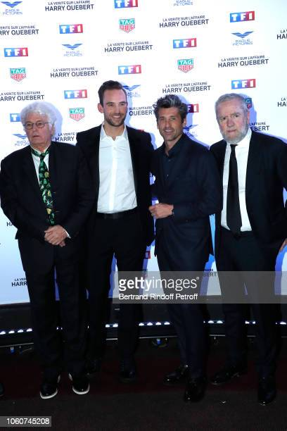 Director of the series Jean-Jacques Annaud, Autor of the series Joel Dicker, Actor of the series Patrick Dempsey and Producer Fabio Conversi attend...
