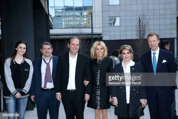 Director of the Station F Roxane Varda guest CEO at Iliad and Fondator of the Station F Xavier Niel Brigitte Macron LLAARR GrandDuc Henri and...
