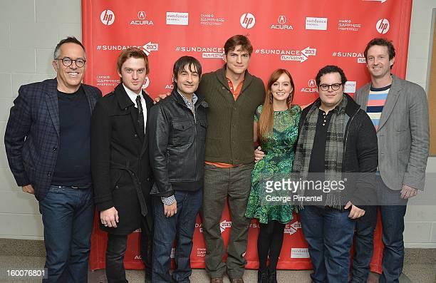 Director of the Sundance Film Festival John Cooper, actors Eddie Hassell, director Joshua Michael Stern, actors Ashton Kutcher, Ahna O'Reilly Josh...