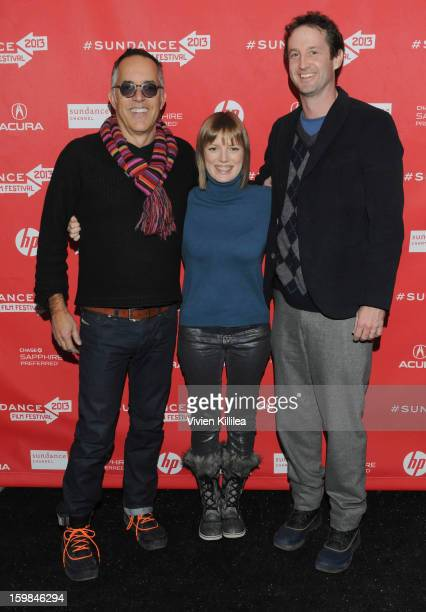 Director of the Sundance Film Festival John Cooper director Sarah Polley and director of programming at the Sundance Film Festival Trevor Groth...