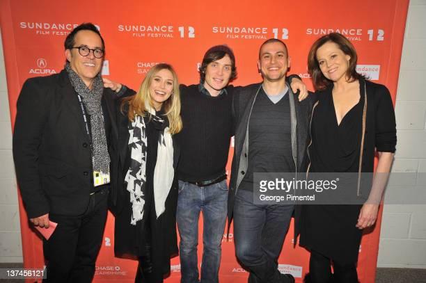 Director of the Sundance Film Festival John Cooper Elizabeth Olsen Cillian Murphy Rodrigo Cortes and Sigourney Weaver attend the 'Red Lights'...