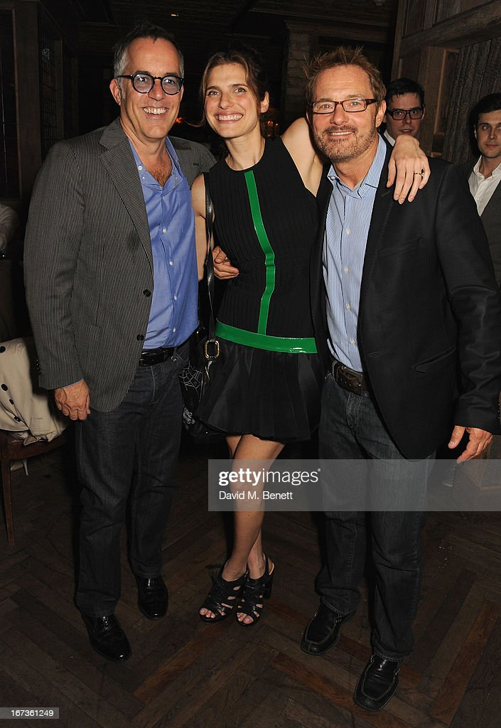 Director of the Sundance Film Festival John Cooper, Lake Bell and David Louvier attend Grey Goose hosted Sundance London Filmmaker Dinner at Little House on April 24, 2013 in London, England.