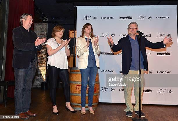 Director of the Tribeca Film Festival Geoffrey Gilmore Director of Programming Genna Terranova cofounders Jane Rosenthal and Robert De Niro attend...