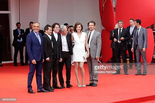 Director of the Venice Film Festival Alberto Barbera, actors John Leguizamo, Anton Yelchin, director Michael Almereyda, actors Milla Jovovich and...