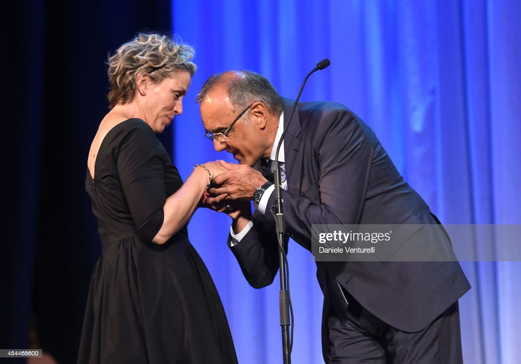 Frances McDomand Is Awarded With Persol Tribute To Visionary Talent Award 2014 - Awards Ceremony - 71st Venice Film Festival