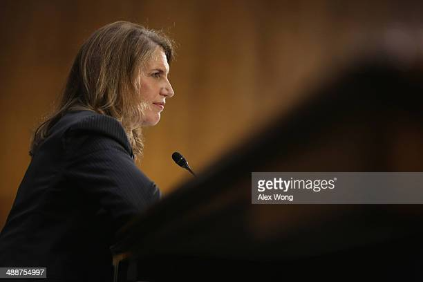 Director of the White House Office of Management and Budget Sylvia Mathews Burwell testifies during her confirmation hearing before the Senate Health...