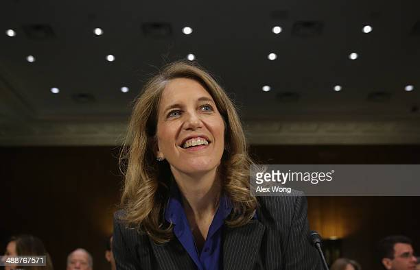 Director of the White House Office of Management and Budget Sylvia Mathews Burwell arrives at her confirmation hearing before the Senate Health...