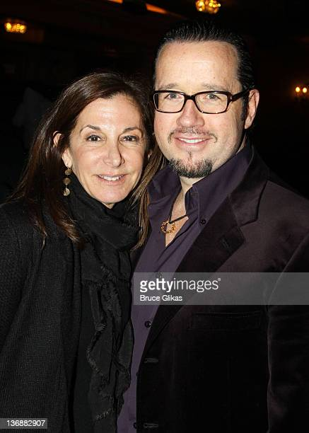 Director of Tony Awards Marketing and Development Jan Svendsen and President and CEO Audemars Piquet North America FrancoisHenry Bennahmias pose at a...