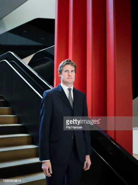 Director of Victoria and Albert Museum Tristram Hunt is photographed for the Observer on November 5 2018 in London England