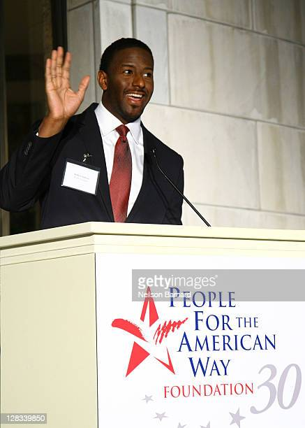 Director of Youth Leadership Program and Tallahassee City Commissioner Andrew Gillum speaks at People For The American Way Foundation's 30th...