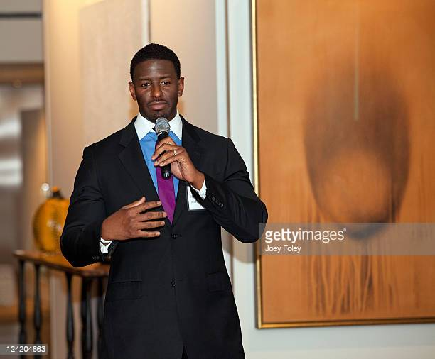 Director of Youth Leadership Programs for People For The American Way Andrew Gillum speaks during the 30th Anniversary of People For The American Way...
