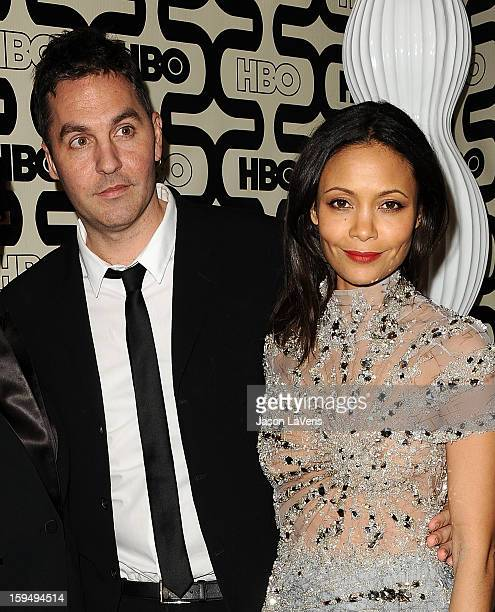 Director Ol Parker and actress Thandie Newton attend the HBO after party at the 70th annual Golden Globe Awards at Circa 55 restaurant at the Beverly...