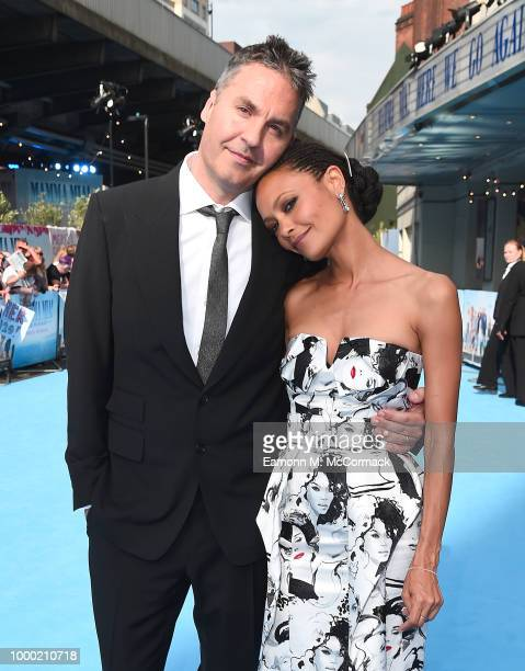 Director Ol Parker and Thandie Newton attend the Mamma Mia Here We Go Again world premiere at the Eventim Apollo Hammersmith on July 16 2018 in...